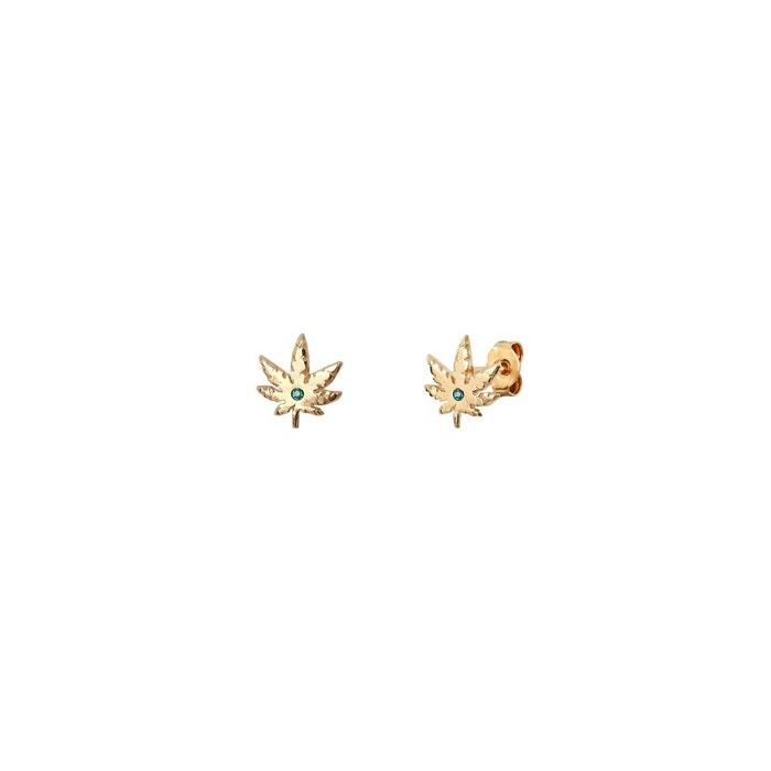 Boucles d'oreilles puces dorées emerald mini 420 multicolore Caroline Najman | La Redoute À Bas Prix aIJa6rNIi