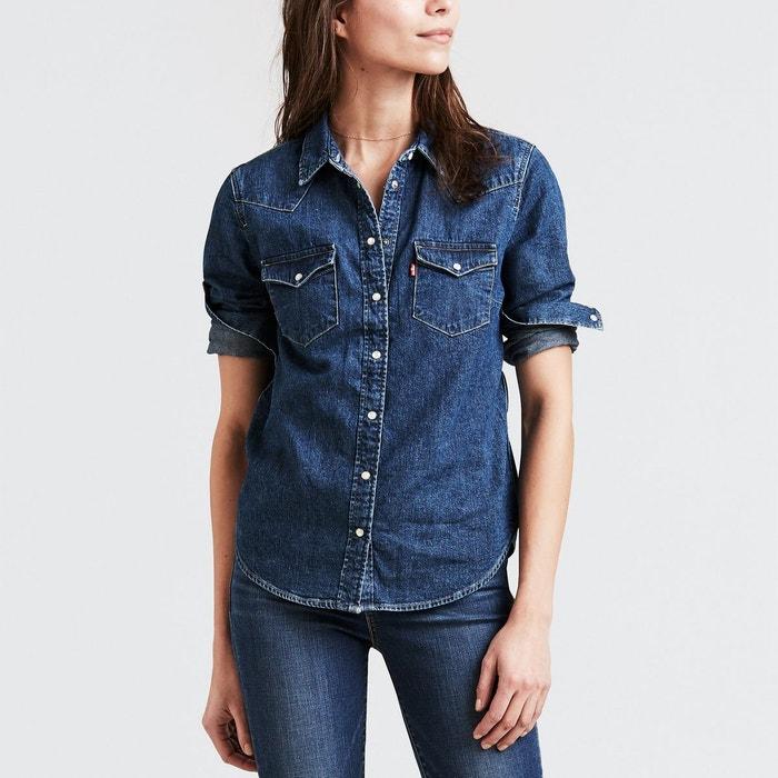 chemise jean denim ultimate western coupe droite levi 39 s la redoute