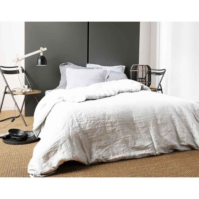 housse de couette unie en lin home maison la redoute. Black Bedroom Furniture Sets. Home Design Ideas