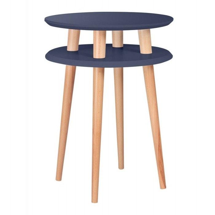 Table basse d\'appoint ronde 2 plateaux bois Ragaba Ufo