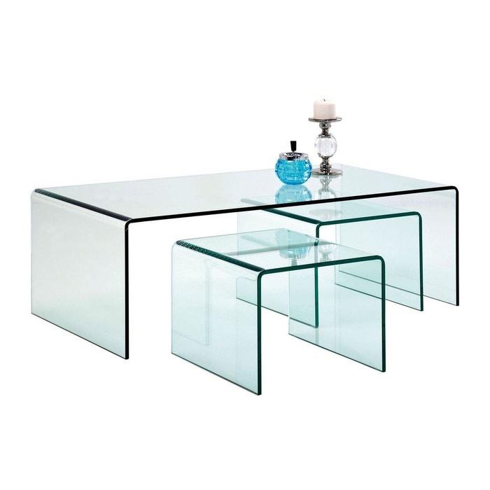 tables basses transparentes clear club set de 3 kare. Black Bedroom Furniture Sets. Home Design Ideas