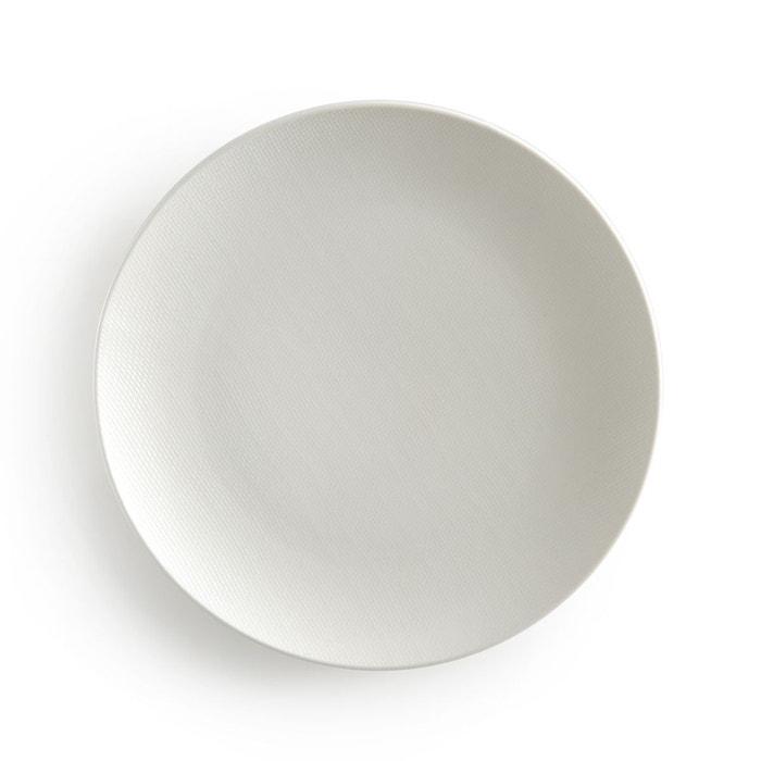 lot 4 assiettes plates lourette blanc la redoute interieurs la redoute. Black Bedroom Furniture Sets. Home Design Ideas