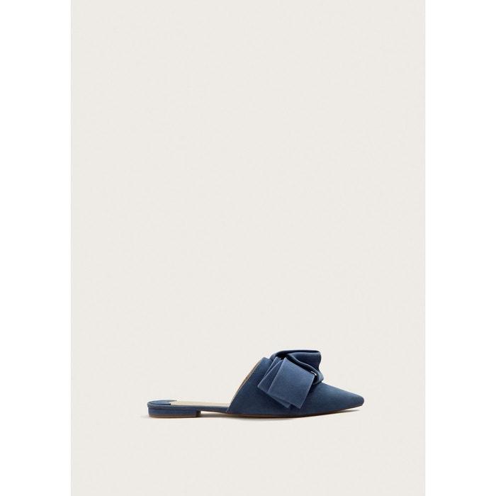 Mules daim noeud bleu Violeta By Mango Braderie En Ligne Forfait De Compte À Rebours De Vente Pas Cher Dernières Collections En Ligne Qualité Supérieure Vente Qualité Supérieure De La Livraison Gratuite eKMbOugP