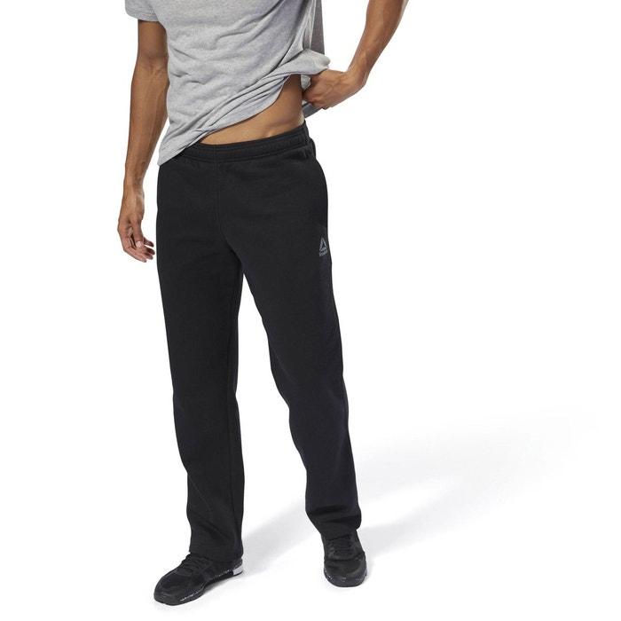 30467f24d4553 Pantalon molleton training essentials open hem noir Reebok Sport ...