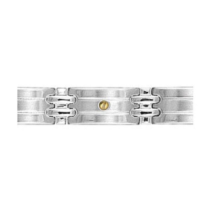 Bracelet homme acier vis or