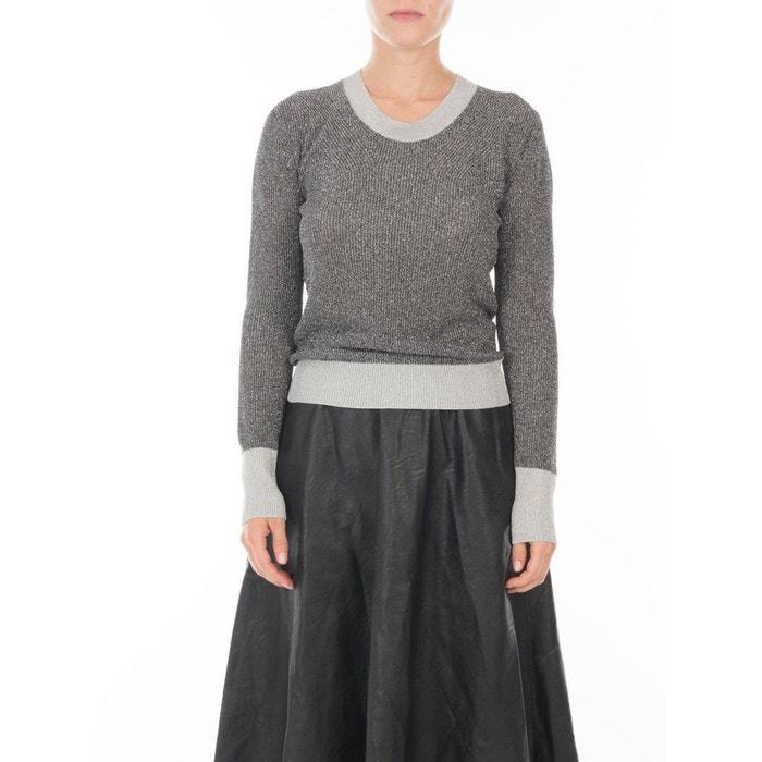 1d79793b087 Petit pull en maille fil textile® col rond broadway Maison Lurex ...