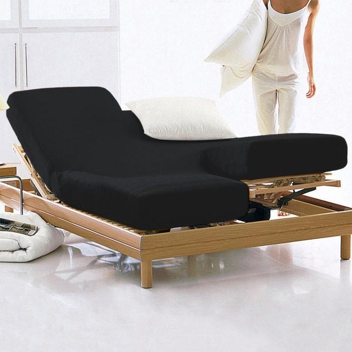 drap housse coton pour sommiers articul s scenario la redoute. Black Bedroom Furniture Sets. Home Design Ideas