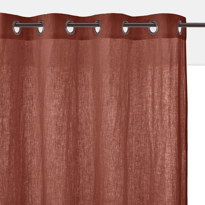 rideau lin lav illets onega la redoute interieurs la. Black Bedroom Furniture Sets. Home Design Ideas