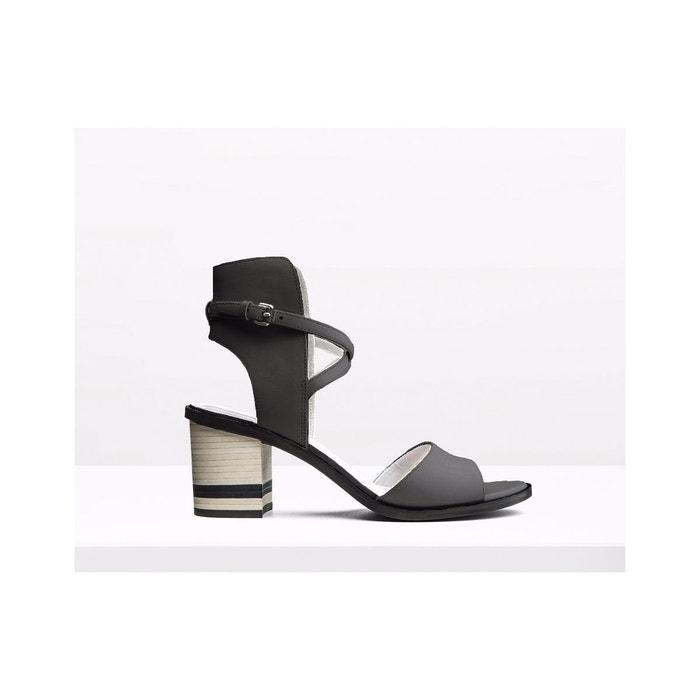 Sandales en cuir - niel  noir What For  La Redoute