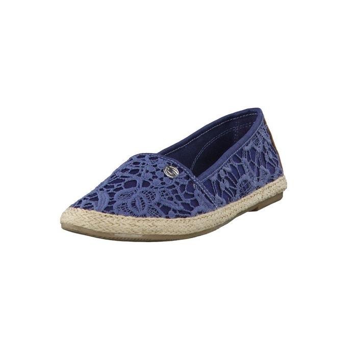 espadrilles lace slipper 9692013 bleu tom tailor la redoute. Black Bedroom Furniture Sets. Home Design Ideas