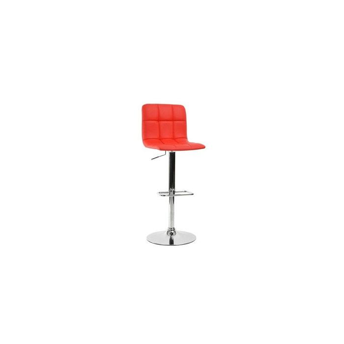 tabouret de bar confortable design noir rouge calicosy. Black Bedroom Furniture Sets. Home Design Ideas