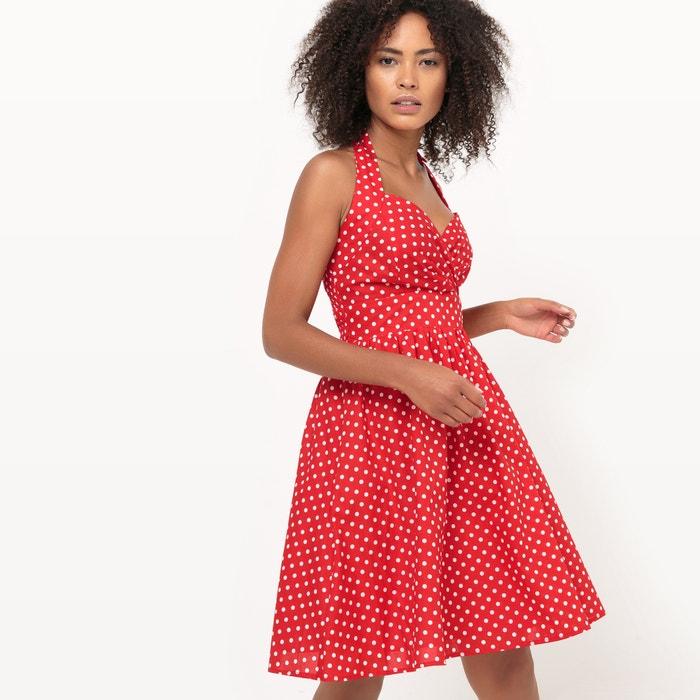 Polka Dot Print Flared Dress  MOLLY BRACKEN image 0