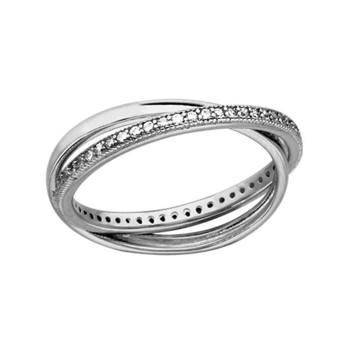 Bague femme 2 anneaux entrelacés alliance eternité oxyde de zirconium blanc argent 925 couleur unique So Chic Bijoux | La Redoute Vente Boutique I5YoSaU