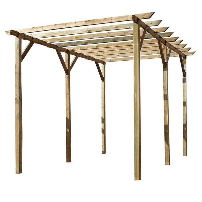 Pergola droite en bois traité bois Cemonjardin | La Redoute