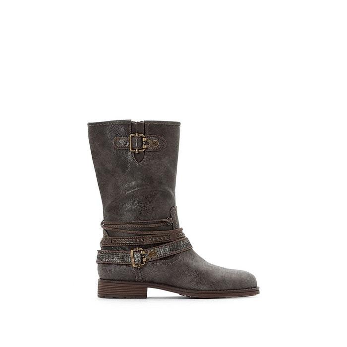 Meilleur Pas Cher Bottes à talon gris foncé Mustang Shoes Acheter Pas Cher De Haute Qualité Gros Pas Cher FodeYX7Xlc