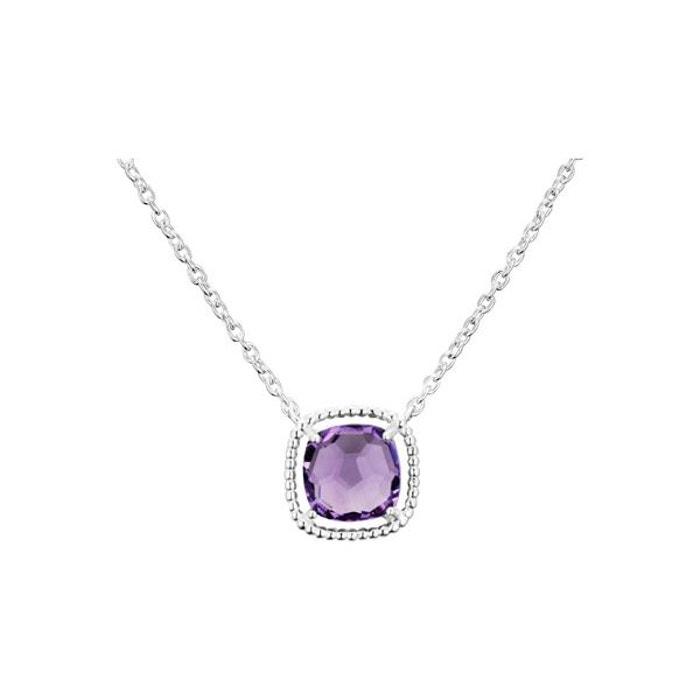 Collier ras de cou sissi mademoiselle en argent 925, améthyste, 2.0g violet Clio Blue   La Redoute