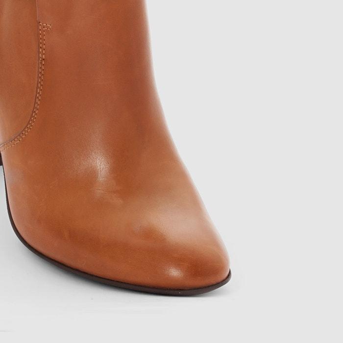afbeelding Leren boots met gekruiste bandjes La Redoute Collections
