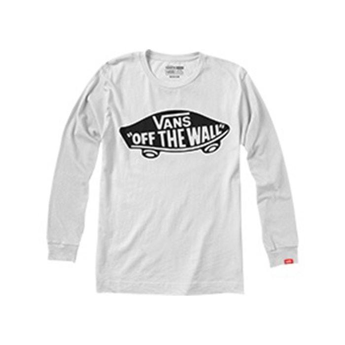 cuello Camiseta y manga lisa VANS redondo de larga Ydqqp6