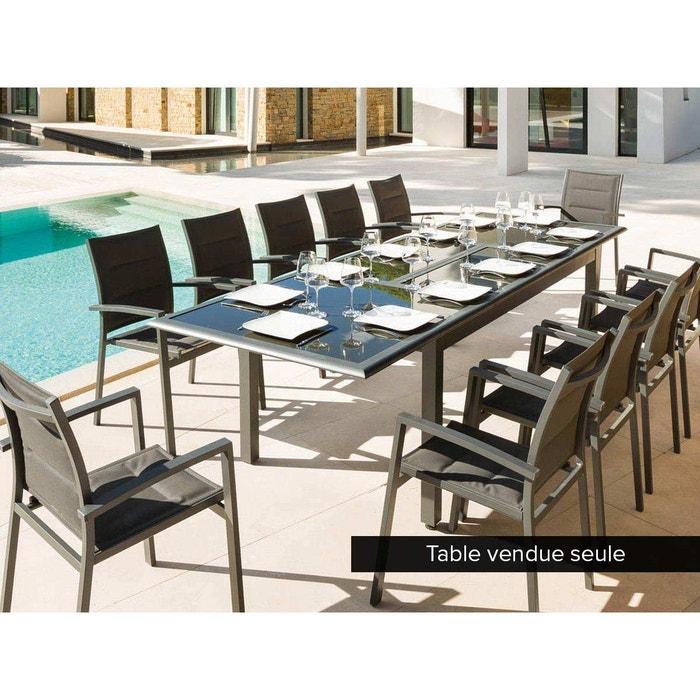 Table extensible rectangulaire azua 8 12 places gris for Table extensible azua 8 12 places aluminium hesperide