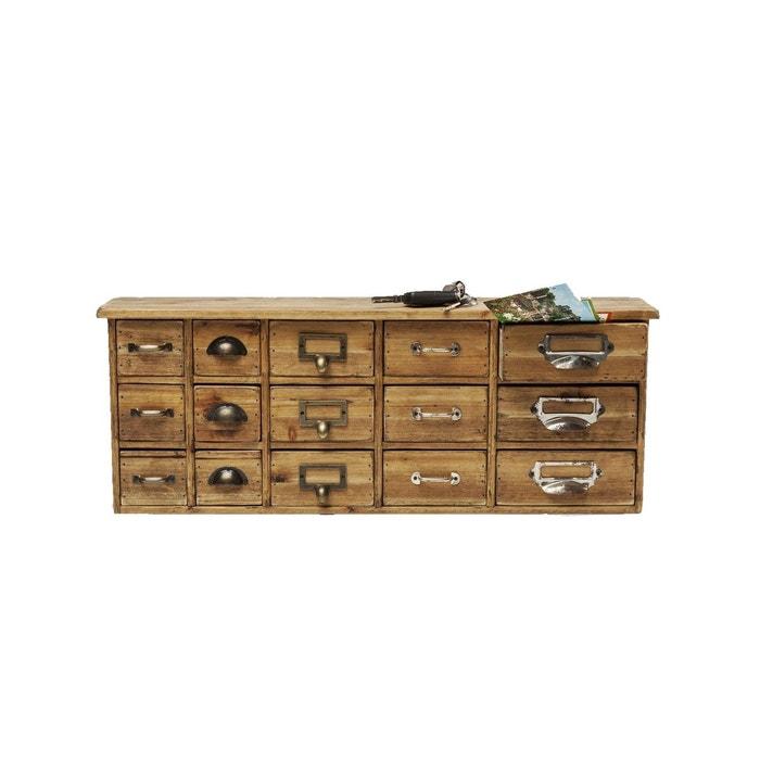 etag re murale cookies 15 tiroirs kare design bois kare design la redoute. Black Bedroom Furniture Sets. Home Design Ideas