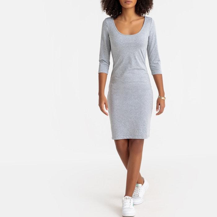 ecda4aa63faca1 Aansluitende korte jurk met 3 4 mouwen La Redoute Collections