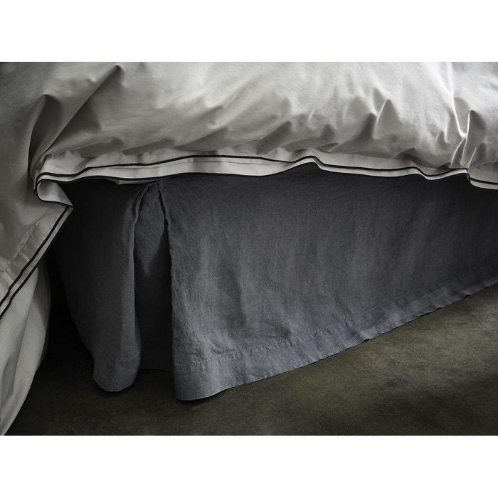 cache sommier lin lav uni gris gris blanc cerise la. Black Bedroom Furniture Sets. Home Design Ideas