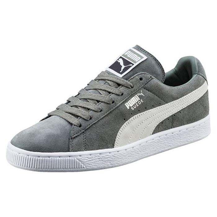 Baskets suede classic gris/blanc Puma