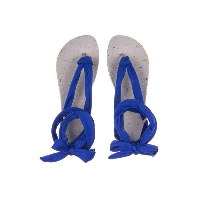 Bleu et Sandales femme Blanc Laces AMAZONAS 1wxFnRqACH