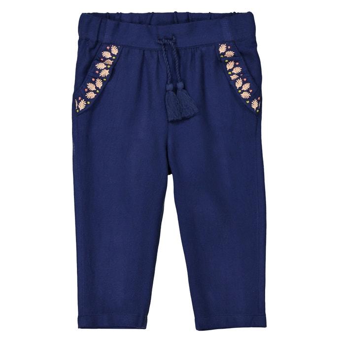 Pantaloni straight ricamati da 1 mese a 3 anni  La Redoute Collections image 0