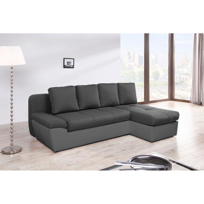freestyle canap d angle droit convertible avec 2 coffres relaxima la redoute. Black Bedroom Furniture Sets. Home Design Ideas