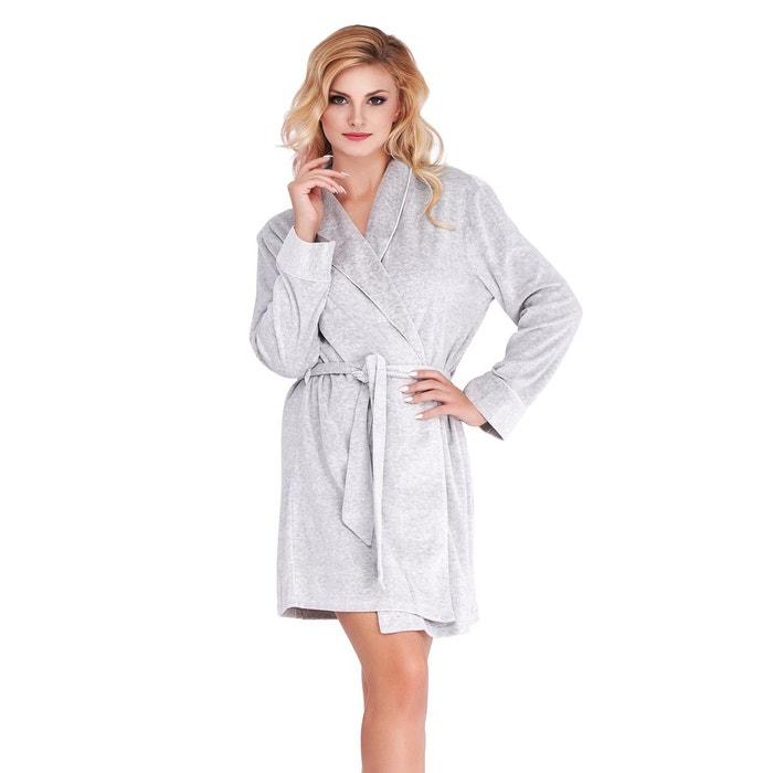 Robe de chambre imitation velours gris mio lounge la redoute - La redoute robe de chambre ...