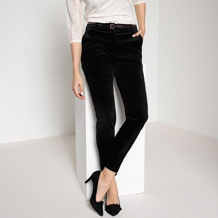 Pantaloni dritti in velluto stretch  ANNE WEYBURN image 0