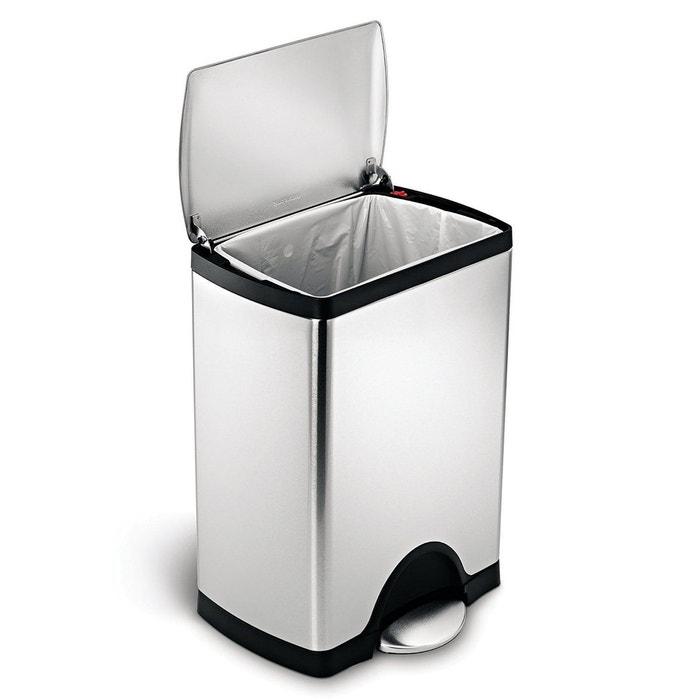 poubelle rectangular step can 30l acier inoxydable simplehuman la redoute. Black Bedroom Furniture Sets. Home Design Ideas