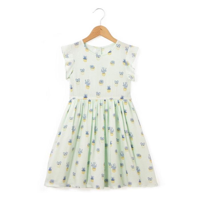 Cactus-Print Short-Sleeved Dress, 2-12 Years