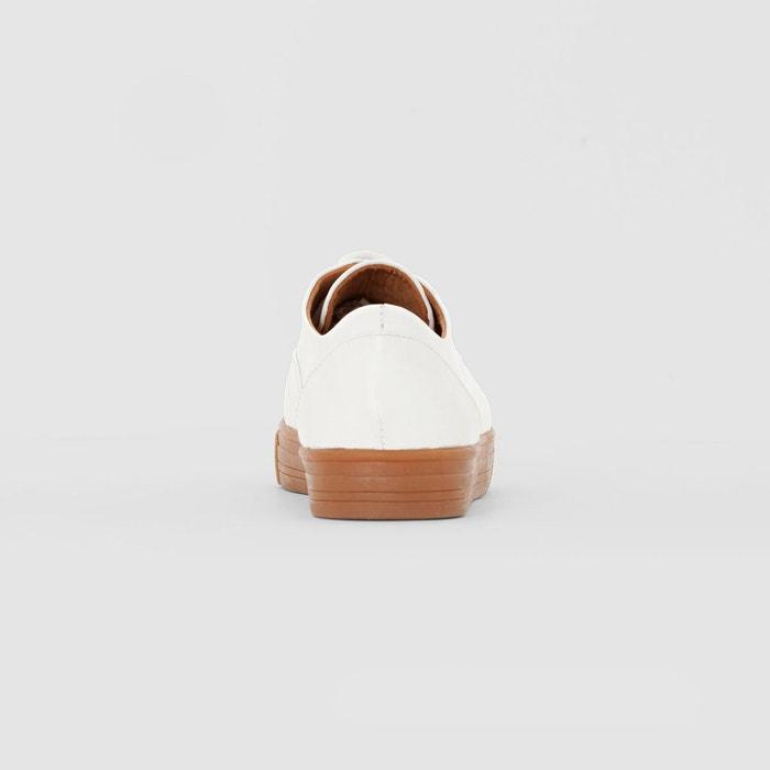Baskets cuir semelle miel La Redoute Collections