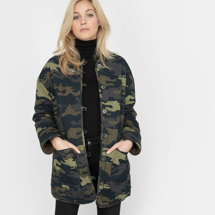 Manteau imprime militaire femme