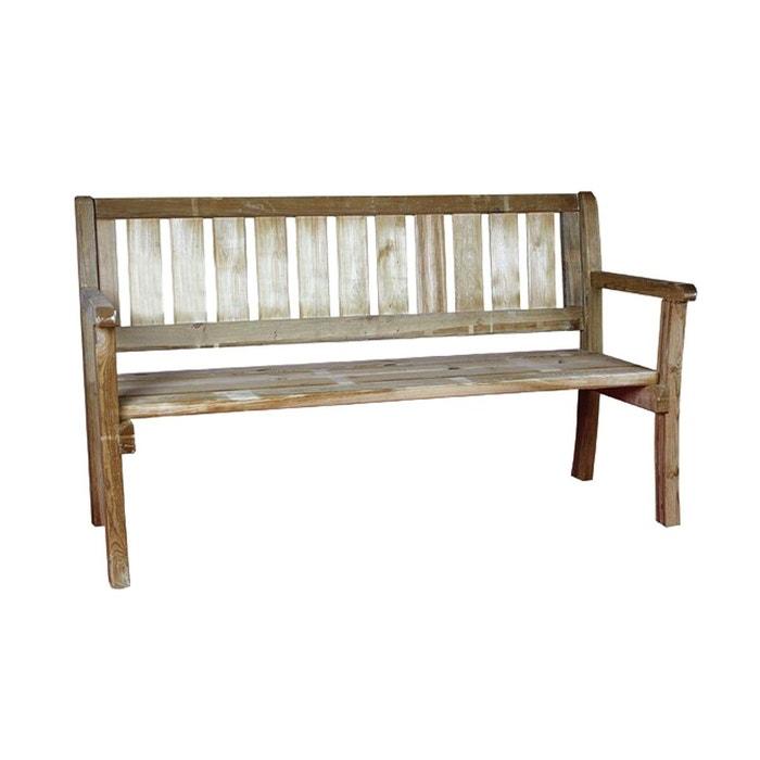 Banc de jardin 2 3 places en bois trait bois clair - La redoute banc ...