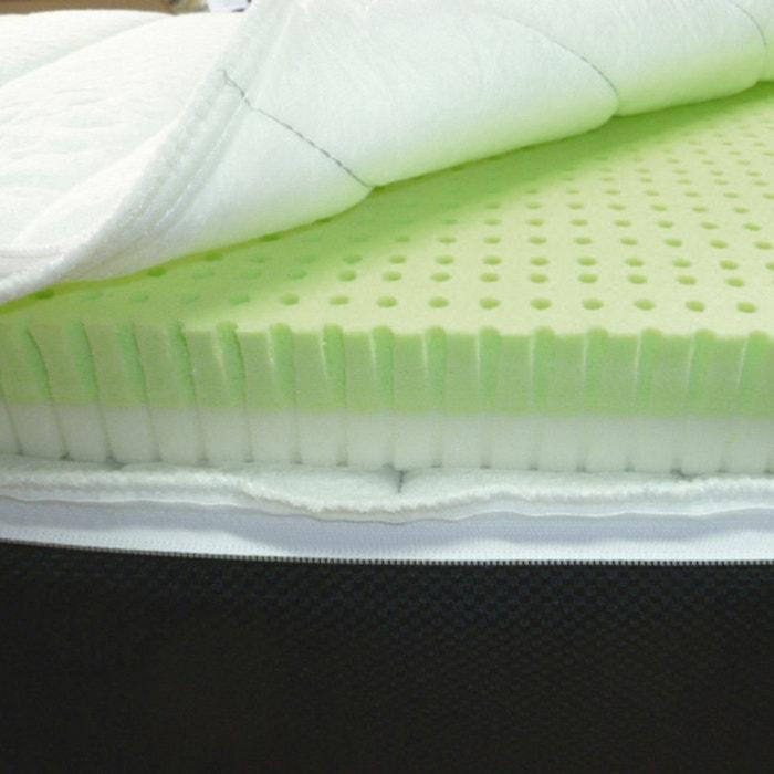 surmatelas bi confort avec mousse m moire de forme latex d houssable reverie blanc la. Black Bedroom Furniture Sets. Home Design Ideas