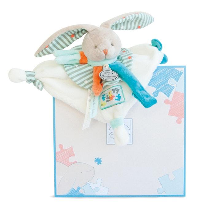 Giochino attacca - ciuccio - coniglio Happy  DOUDOU ET COMPAGNIE image 0