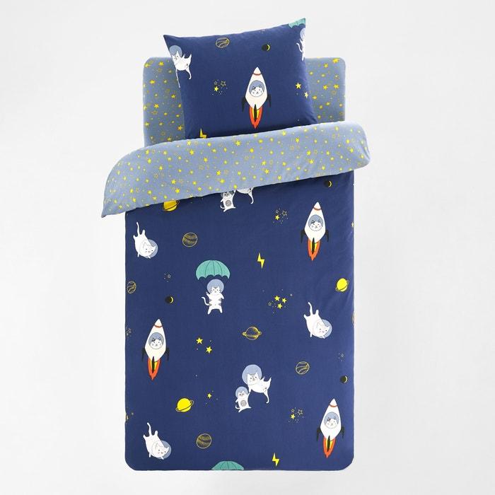 housse de couette enfant coton chastronaute la redoute interieurs imprim fond marine la redoute. Black Bedroom Furniture Sets. Home Design Ideas