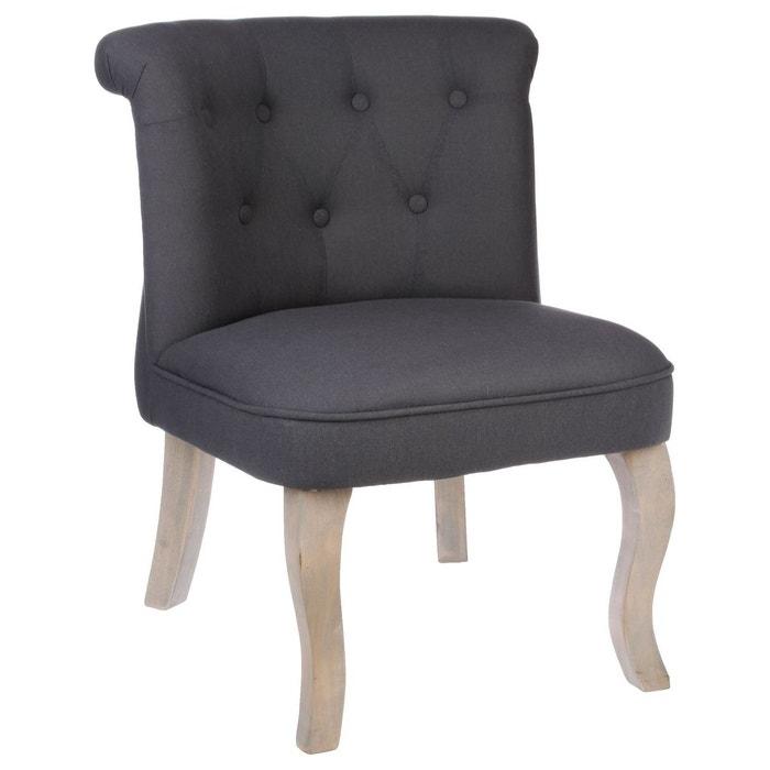 fauteuil crapaud calixte h 73 cm lin atmosphera la. Black Bedroom Furniture Sets. Home Design Ideas