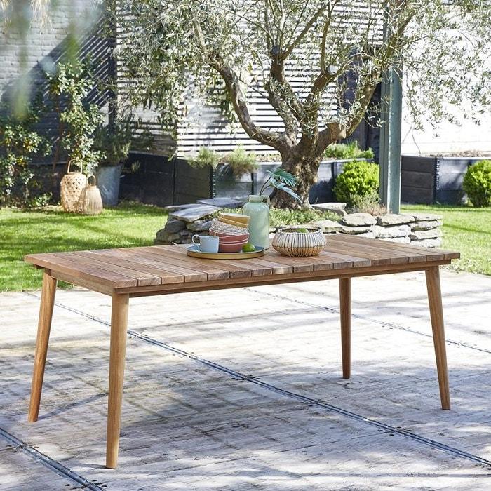 Table de jardin en bois de teck 6 à 8 places teck brut Bois Dessus ...