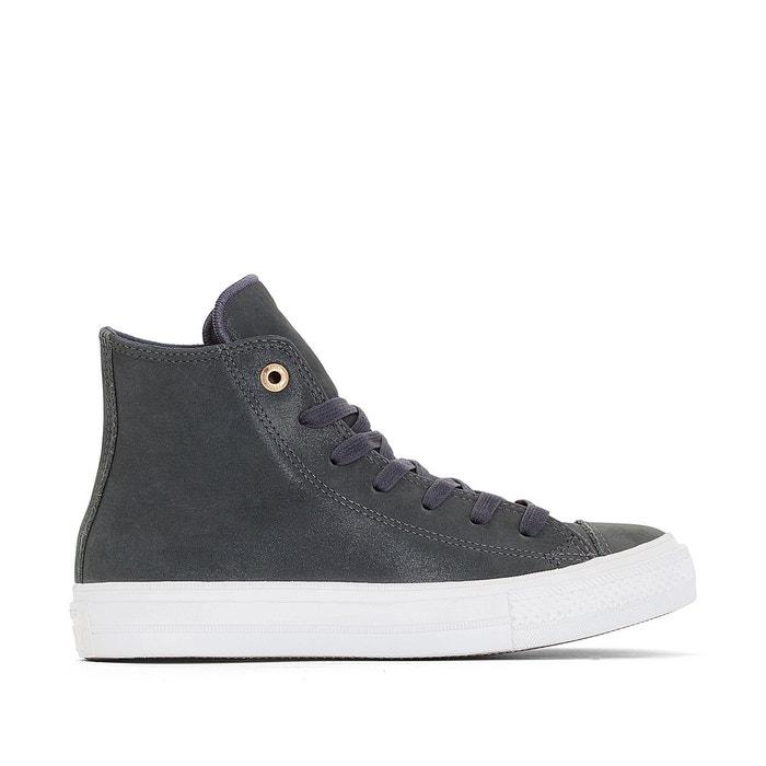 Baskets montantes cuir ctas ii craft leather gris foncé Converse