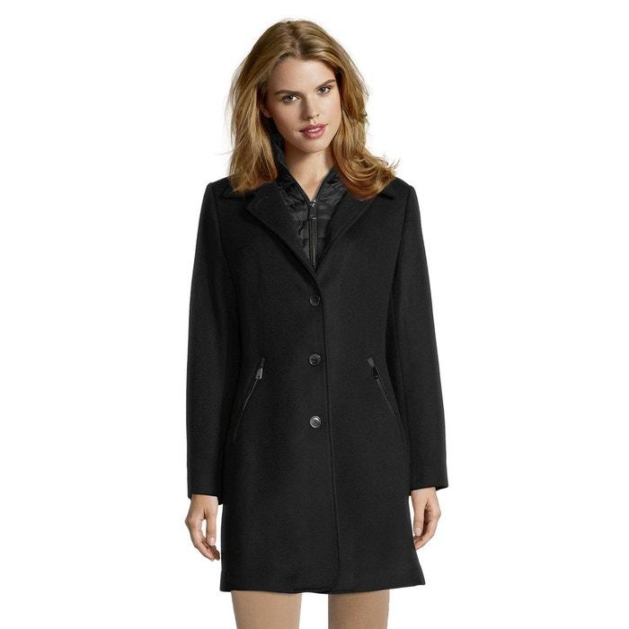 Manteau en laine noir Betty Barclay   La Redoute