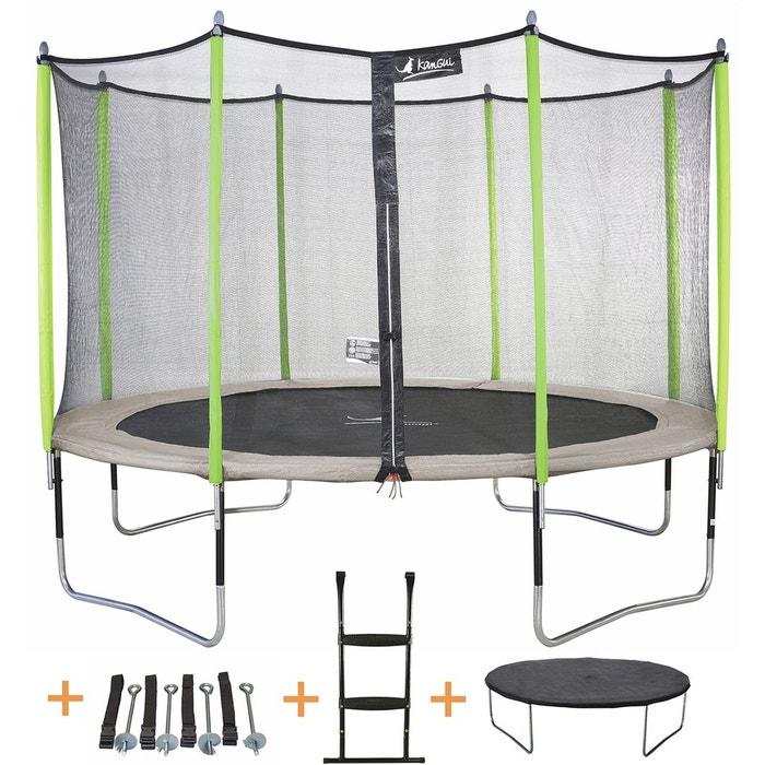 trampoline 430 cm filet chelle b che kit d 39 ancrage jumpi zen 430 taupe vert anis. Black Bedroom Furniture Sets. Home Design Ideas