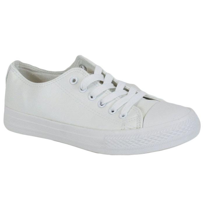Baskets 80057 blanc kebello la redoute - La redoute soldes blanc ...