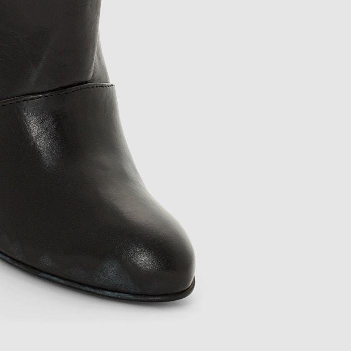 afbeelding Boots met sleehak in leer R studio