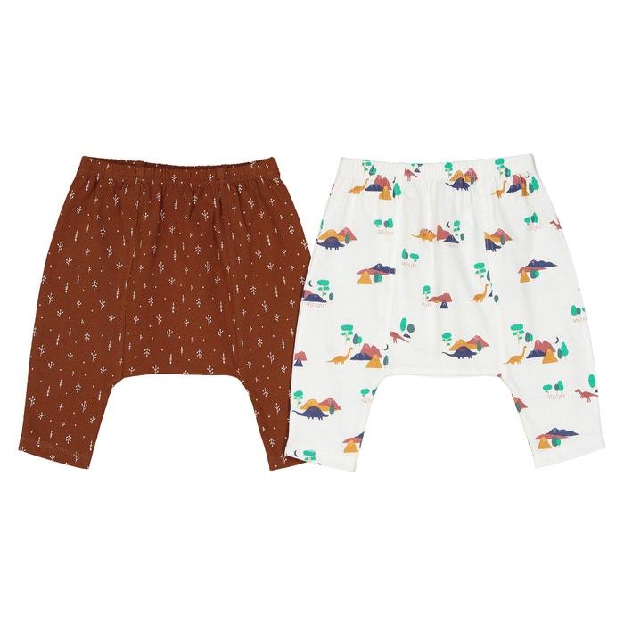 Confezione da 2 pantaloni alla turca dinosauro 0 mesi- 2 anni  La Redoute Collections image 0