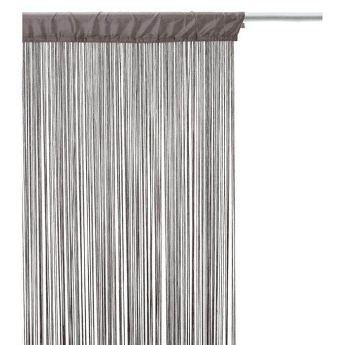 Rideau fils - 90 x 200 cm - gris gris Atmosphera | La Redoute