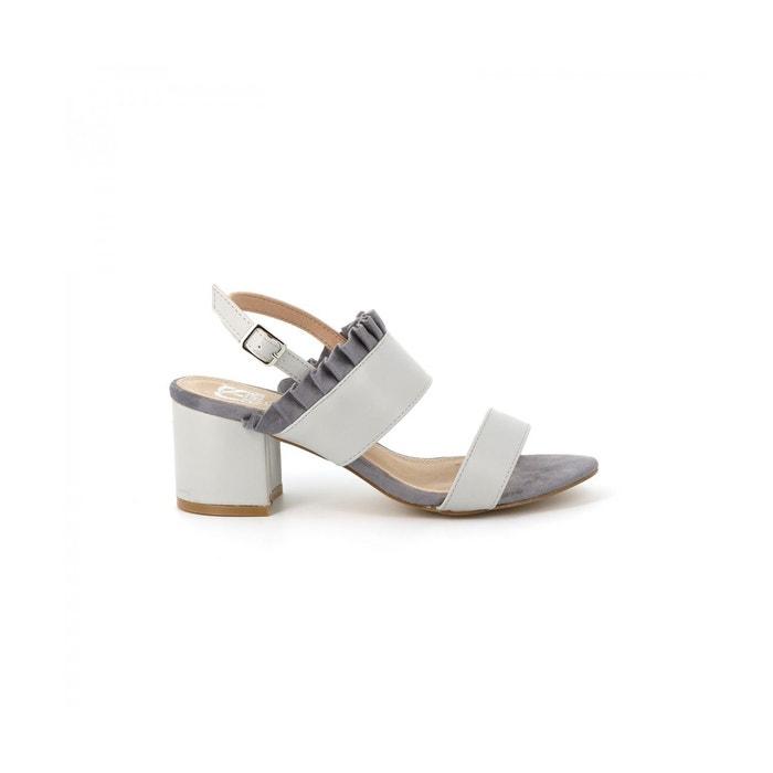 Cassis Côte D'azur Sandale collerette JUDE Gris - Chaussures Sandale Femme